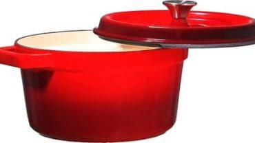 Bruntmor Cast Iron Dutch Oven Casserole Dish