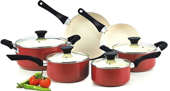 Cook N Home NC-00359 10-Piece Nonstick Ceramic Coating Cookware Set