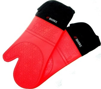 HOMWE Kitchen Extra Long Professional Silicone Oven Mitt