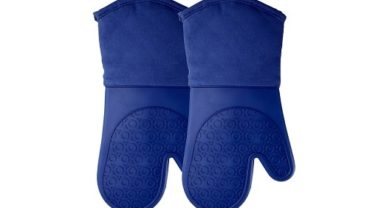 HOMWE Professional Silicone Oven Mitts with Quilted Cotton Lining