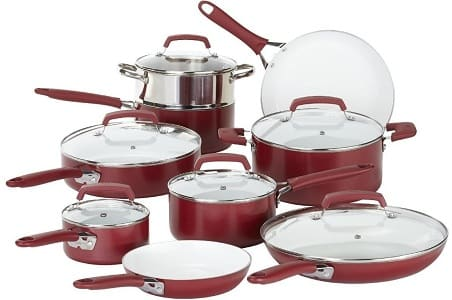 WearEver C943SF Pure Living 15-Piece Cookware Set