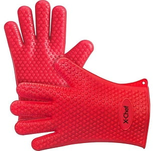 X-Chef Heat Resistant Oven Mitts Silicone Baking Gloves