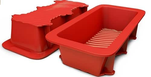 Silicone Red Bread & Loaf Pan (Set of 2)