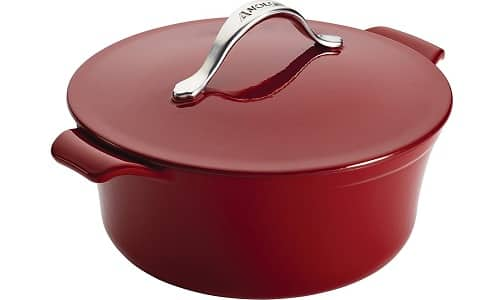 Anolon Vesta 5-Quart Round Covered Cast Iron Casserole