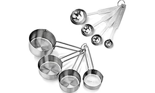 New Star Foodservice 42917 4-Piece Stainless Steel Measuring Spoons and Cups set