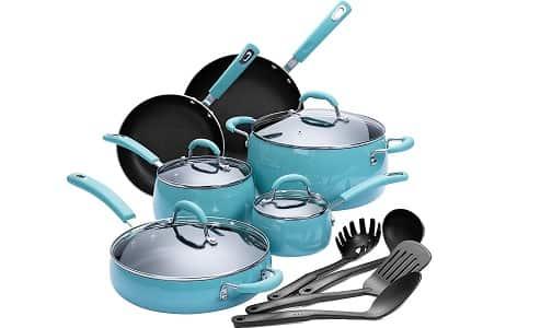 Finnhomy Hard Porcelain Enamel Aluminum Cookware Set