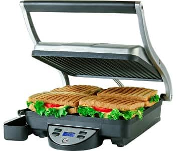 Ovente 4-Slice Digital Electric Panini Press