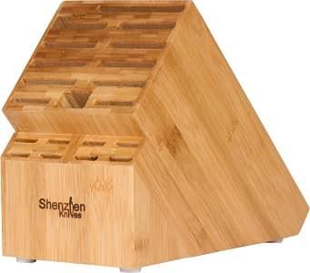 Shenzhen Knives 20 Slot Bamboo Universal Knife Block