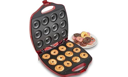 VonShef 12 Mini Donut Electric Maker Kit Set