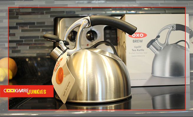 oxo tea kettle on stove