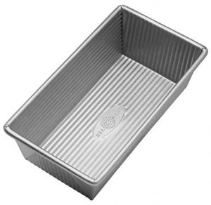 1-USA-Pan-1140LF-Bakeware-Aluminized-Steel-Loaf-Pan-8.5 x 4.5 x 3-Inch Small-Silver