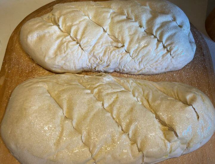 slashed bread loaves