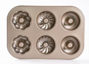 3 Homarty Non-Stick Donut Baking Pan, 3-Pattern