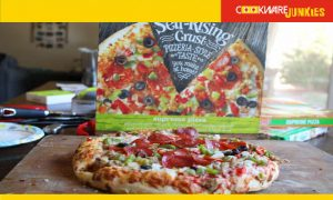 Kroger Self-Rising Supreme cooked pizza