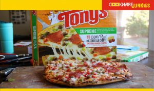 Tony's Supreme Pizza cooked pizza
