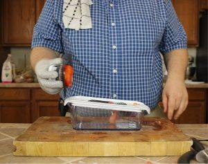 testing-tomato-chopping-with-Fullstar-Master-mandoline-lid