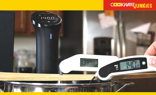 Testing Accuracy With Anova Precision Cooker Nano And Thermapen