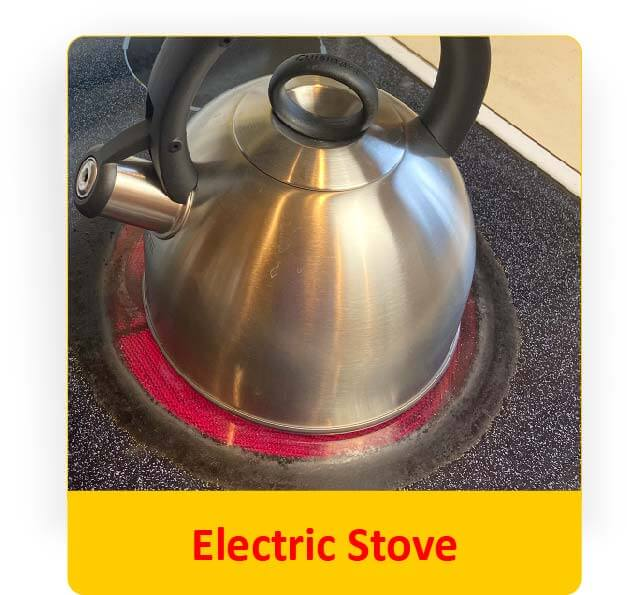 testing on electric stove