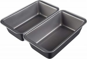 AmazonBasics Carbon Steel (Set of 2) Bread Loaf Pans