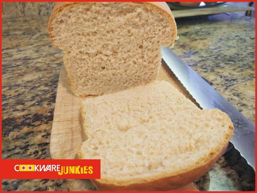 sliced yeast bread from pan