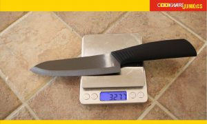 weighing knife on machine
