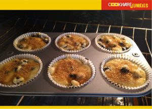Blueberry muffins oven ready