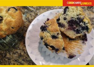 Blueberry muffins served