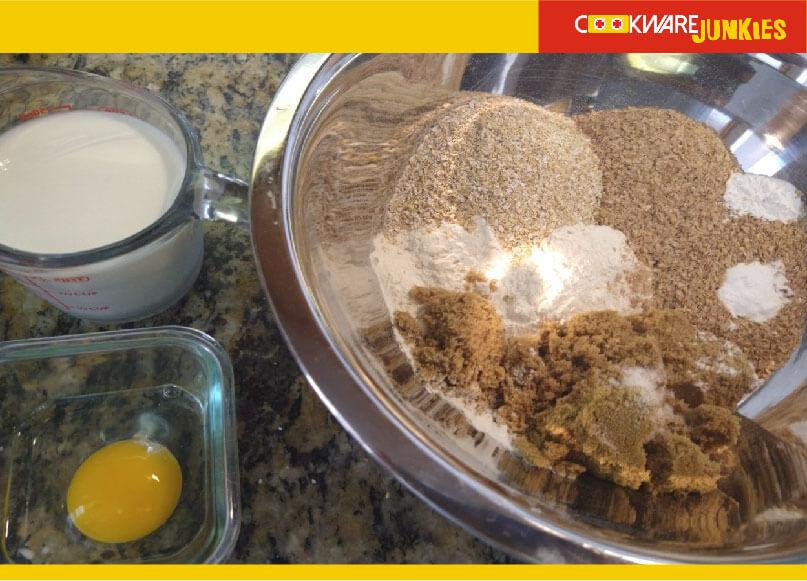 dry ingredients of Bran Muffins
