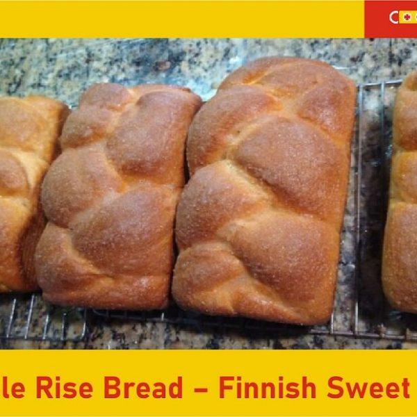 Multiple rise bread – Finnish sweet bread recipe featured image