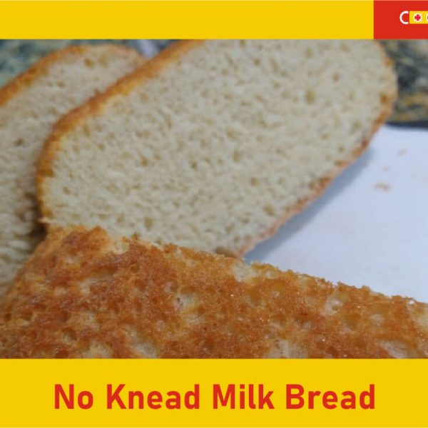 No Knead Milk bread featured image