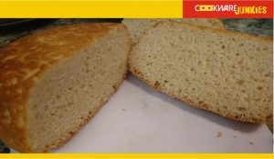 No knead milk bread sliced and served