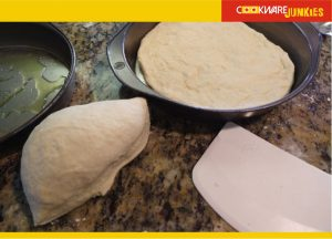 Single rise focaccia dough preparation for Focaccia recipe