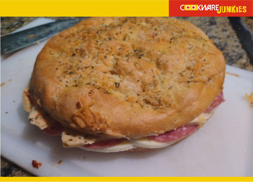 how to serve Single rise focaccia as sandwich