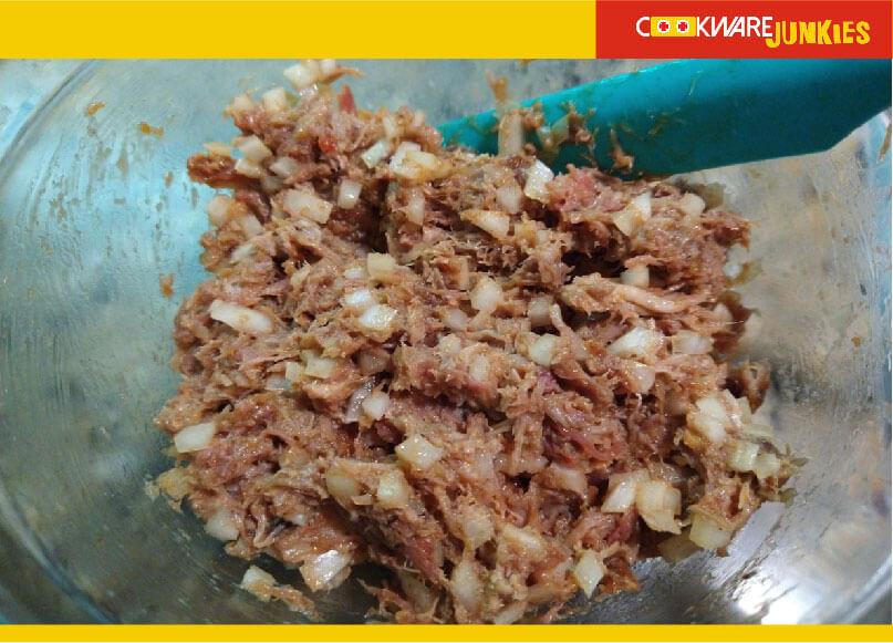 bao filling mixed for Char Siu Bao Recipe