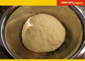 raw bao dough after rise for Char Siu Bao Recipe