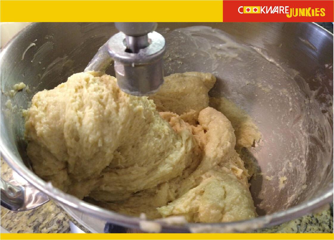 xmas bread dough before kneading for Finnish Bread recipe