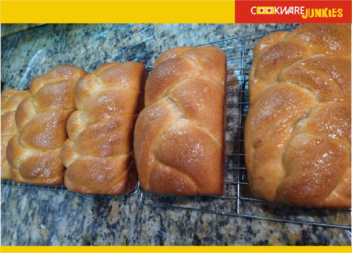xmas bread freshly glazed loaves for Finnish Bread recipe