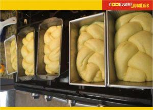 xmas bread raw loaves in pan for Finnish Bread recipe