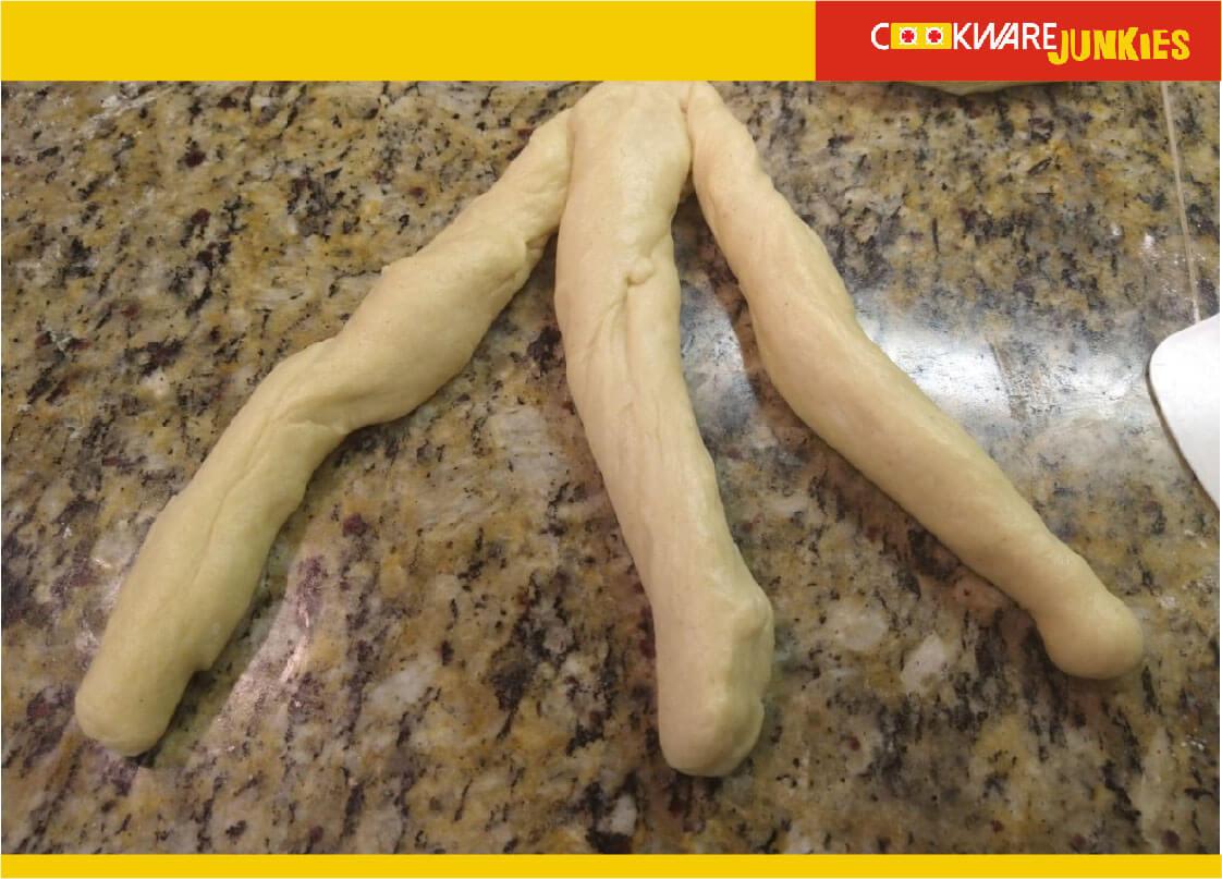 xmas bread raw snakes of dough for Finnish Bread recipe