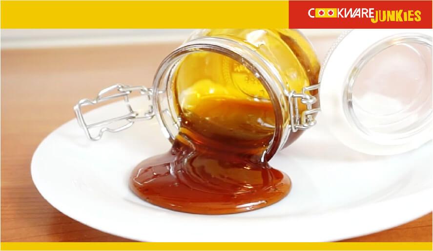 Caramelized sugar in jar