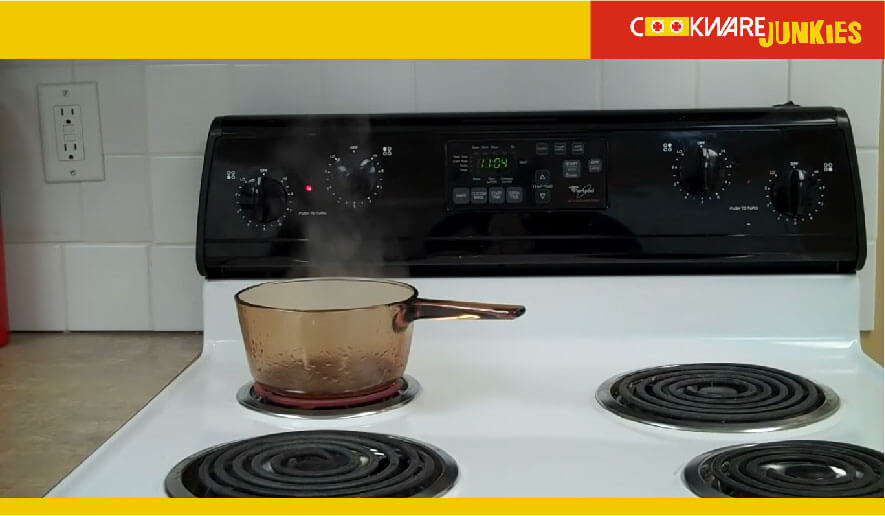 water boiling on stove
