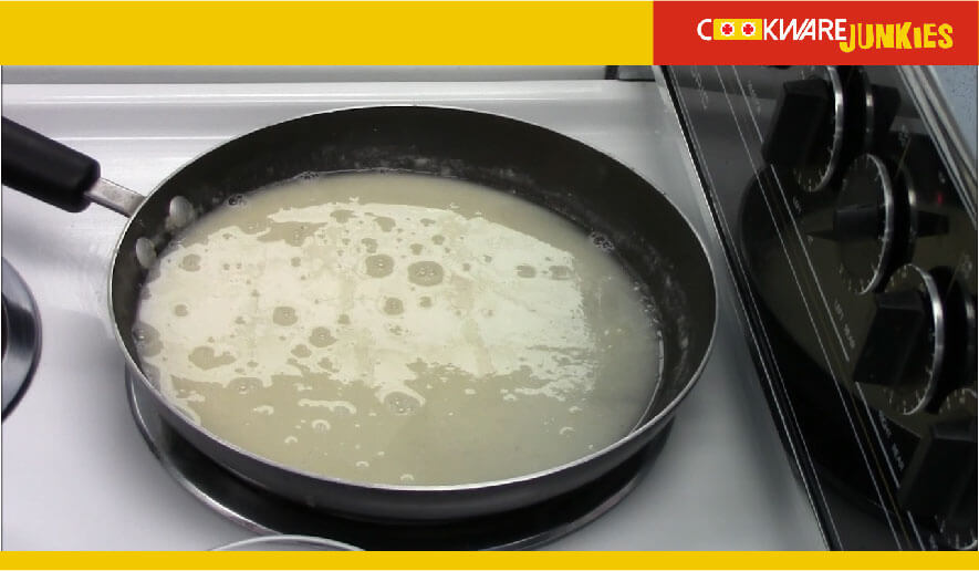 starches in pan on stove