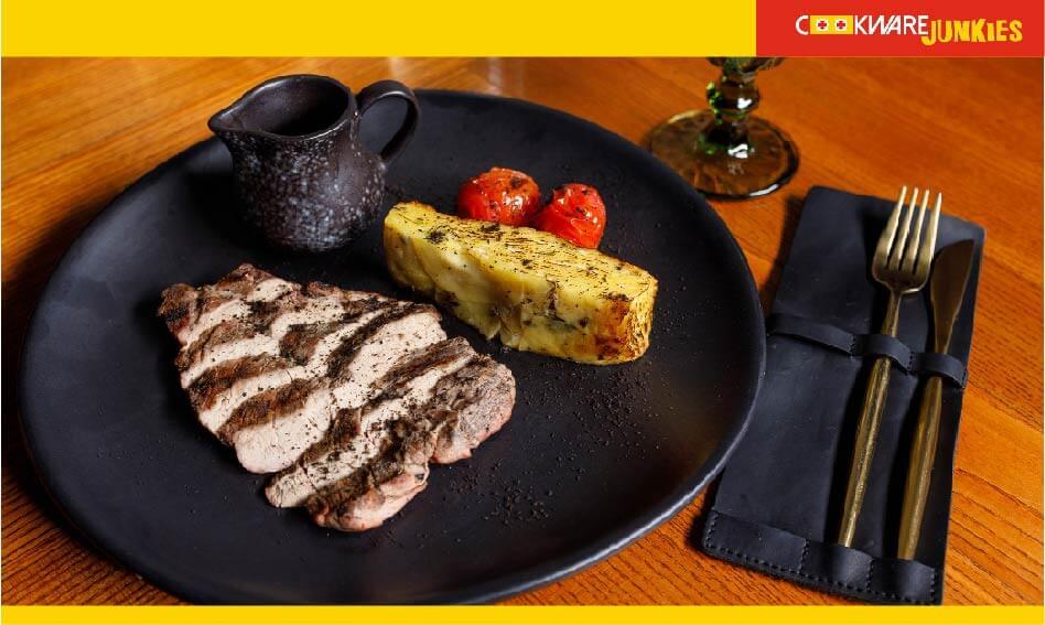 meat steak served