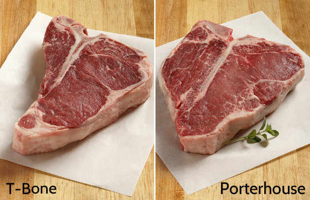comparing two cuts of steak