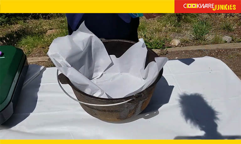 parchment paper In dutch oven