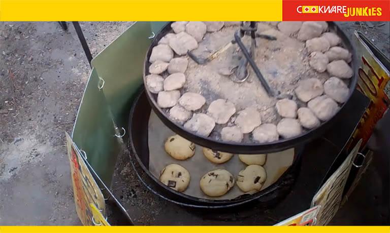 Baking Cookies in dutch oven
