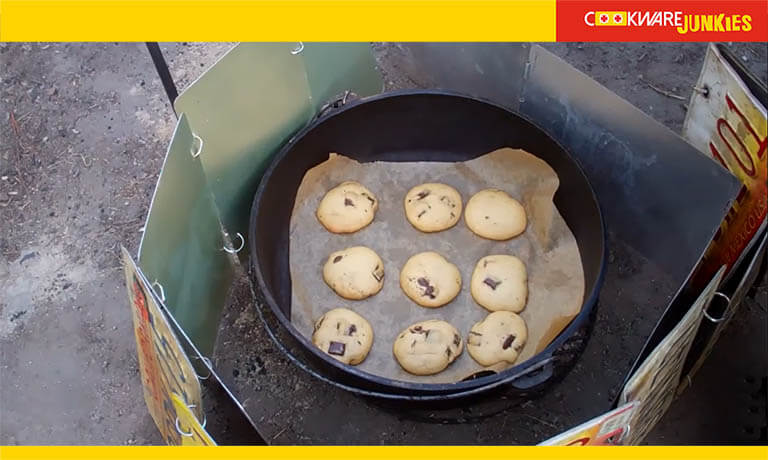 Making Cookies in a dutch oven