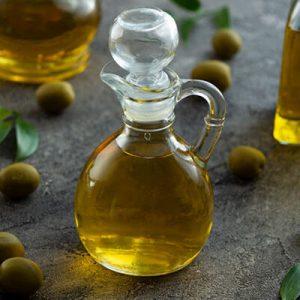 oil In glass jug