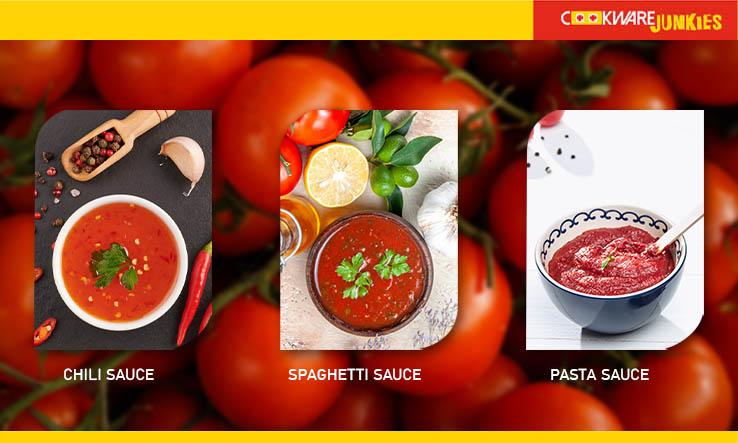 chili, spaghetti, and pasta sauces