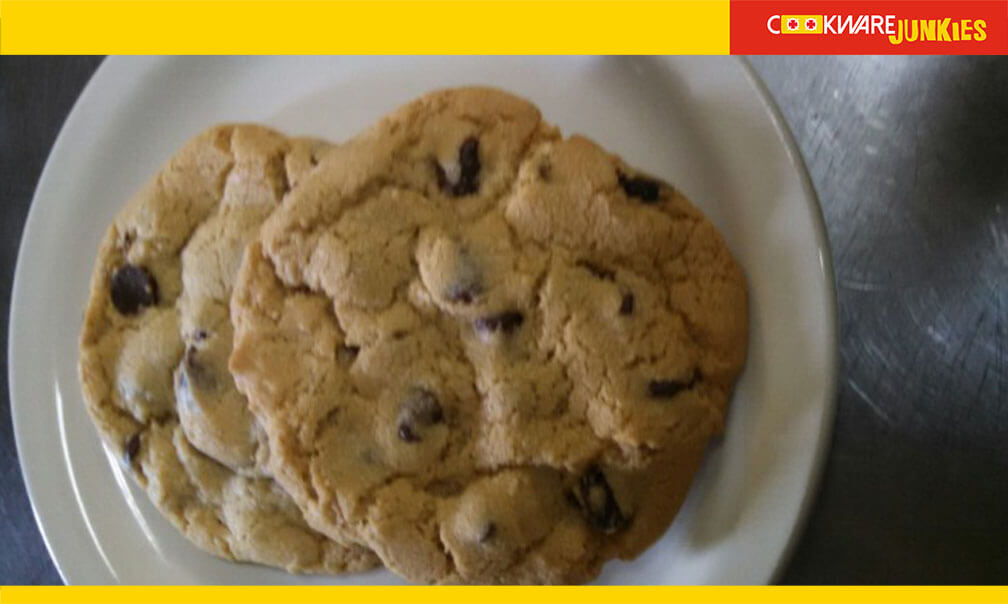 choc chip cookies in plate